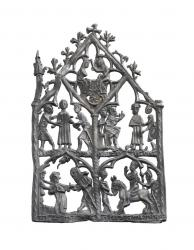 1 14th century devotional panel discovered by archaeologists from mola c mola andy chopping