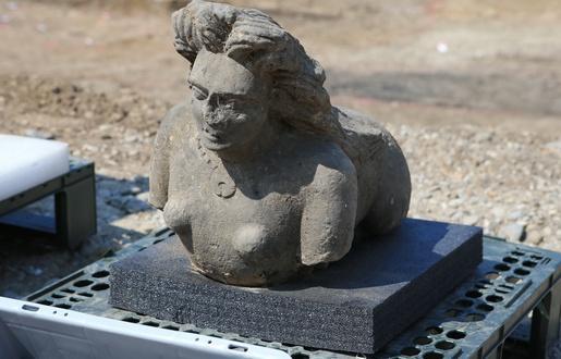 515x330 strasbourg le 11 juin 2015 archeologiques route des romains a koenigshoffen lions et sphinges 1