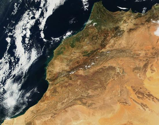 640px satellite image of morocco in january 2002