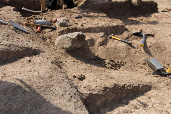 670x510 10205 vignette tool in situ being unearthed at excavation 2