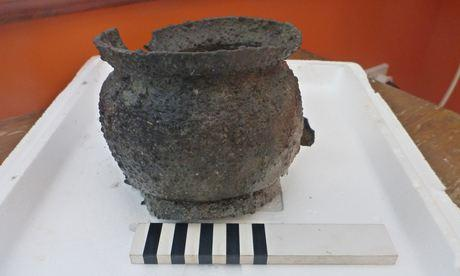 A pewter pot recovered fr 011 1