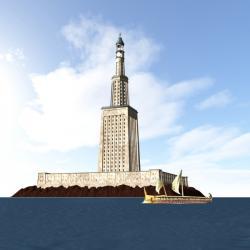 Alexandria lighthouse replica