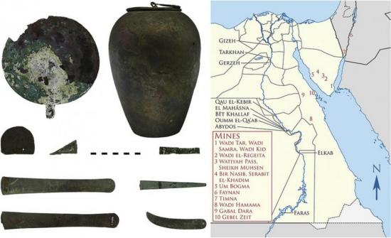 Archaeologists identify sources of ancient egyptian copper