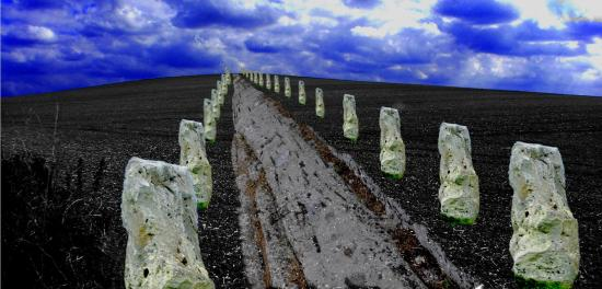 Avebury hil stone ave bw edi