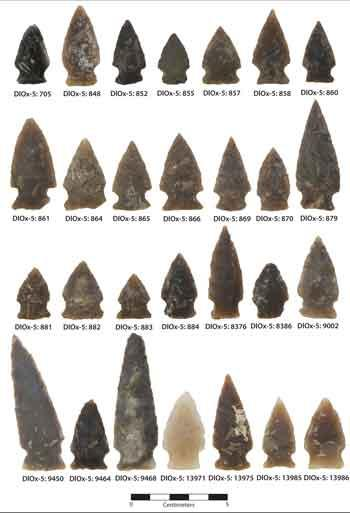 Besant sonota projectile points