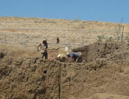 California archaeological dig