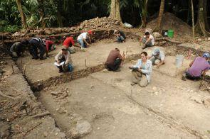 Excavation of an early residential structure in the karinel group at ceibal c 500 bc photo by takeshi inomata 1