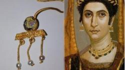 Fayum mummy portraits gold earring roman egypt deultum roman city burgas bulgaria 1