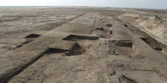 Foundation of the fortress discovered at tell haboa