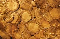 Gold coins treasure 670