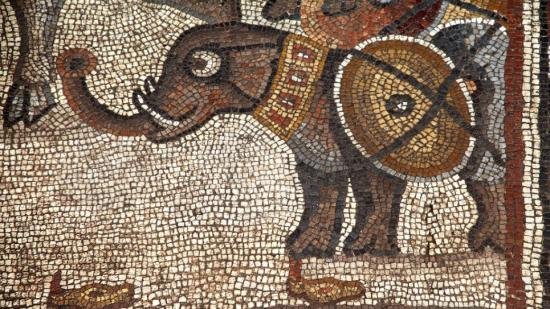 Huqoq mosaic elephant image 965x543