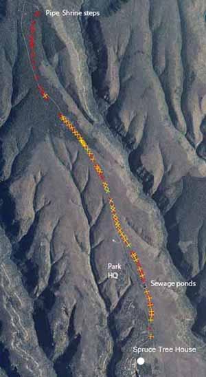 Mummy lake to spruce tree house map