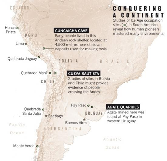 Nature south america map archeology 02 10 14