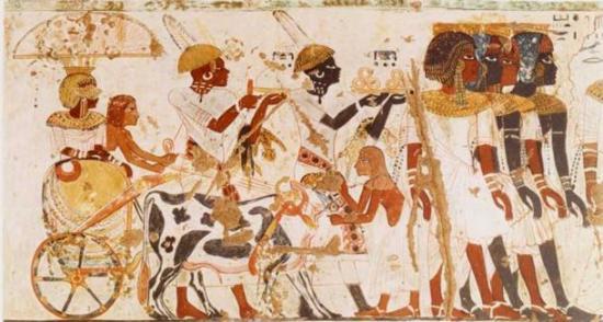 Nubians tomb hury wall