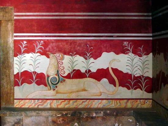 Palace of knossos fresco griffin credit cavorite wikimedia commons cc by sa 2 0