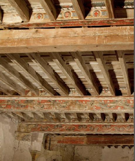 etudes h raultaises le plafond peint du ch teau de capestang. Black Bedroom Furniture Sets. Home Design Ideas