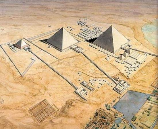Reconstruction of the pyramids of giza causeways