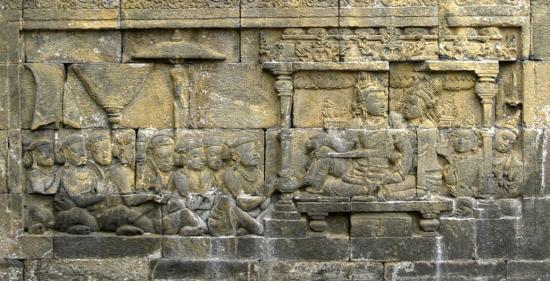 Sailendra king and queen borobudur