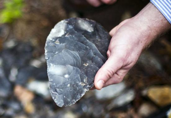 Stone tool hand axe 660x459