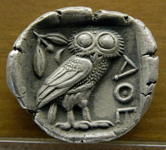 Tetradrachm athens coin