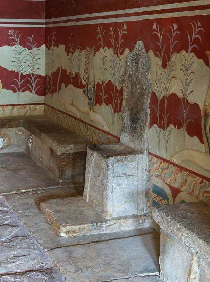 Throne of minos at knossos palace
